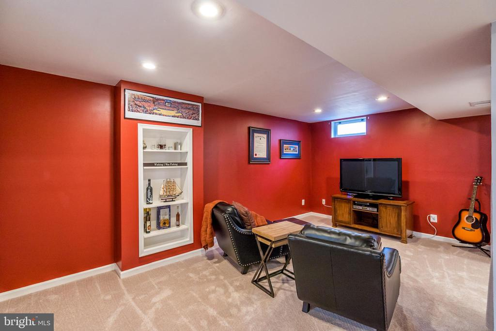 Lower Level Rec Room with Built-ins - 20755 CITATION DR, ASHBURN