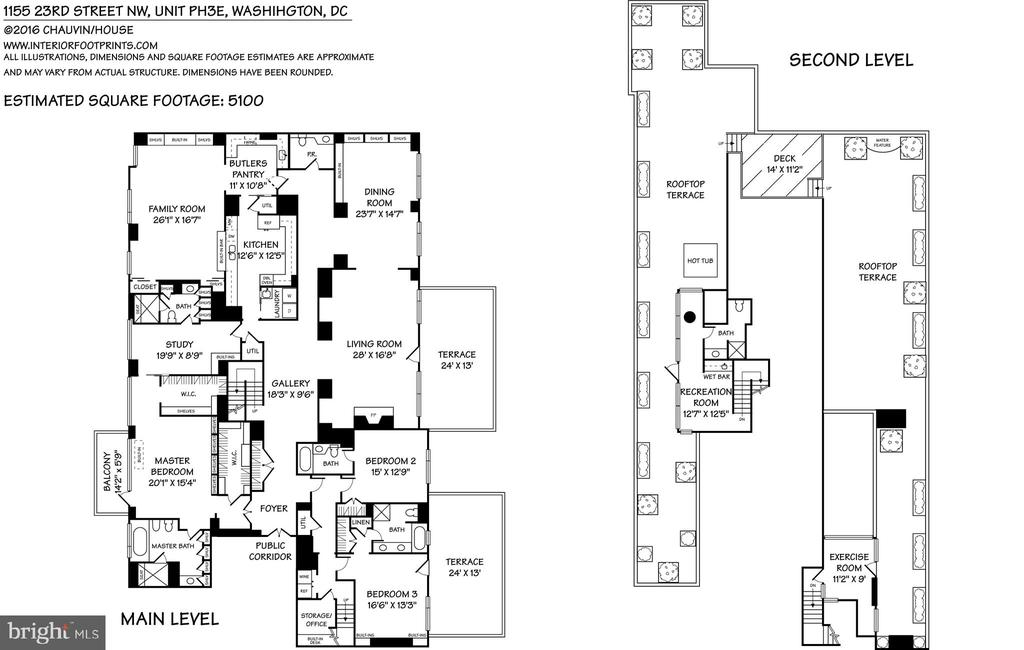 FLOOR PLAN - 1155 23RD ST NW #PH3E, WASHINGTON