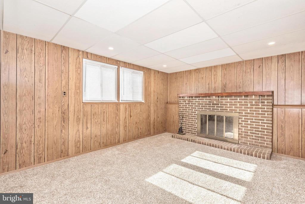 LOWER LEVEL W/ FIREPLACE - 2 PARK CT, WALKERSVILLE