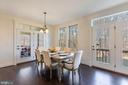 Breakfast room w/ tons of natural light! - 2232 POTOMAC RIVER BLVD, DUMFRIES