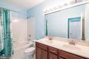 Attached master bath with  double vanities - 20404 TRAILS END TER, ASHBURN