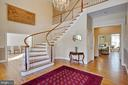 Wonderful Curved  Staircase - 8309 CRESTRIDGE RD, FAIRFAX STATION