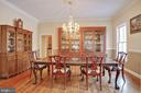 Formal Dining Room - 8309 CRESTRIDGE RD, FAIRFAX STATION