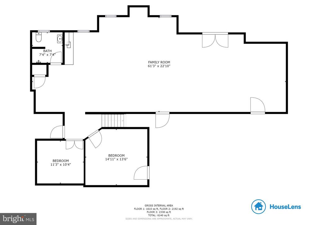 Basement Layout - 8309 CRESTRIDGE RD, FAIRFAX STATION