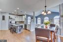 .Plenty of space for eat in kitchen dining space - 122 LAWSON RD SE, LEESBURG
