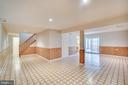 Rec room with patio doors leading to loggia - 8189 SHIPS CURVE LN, SPRINGFIELD