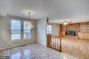 Breakfast area with views of private backyard - 8189 SHIPS CURVE LN, SPRINGFIELD
