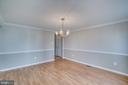Dining room with chair rail - 8189 SHIPS CURVE LN, SPRINGFIELD