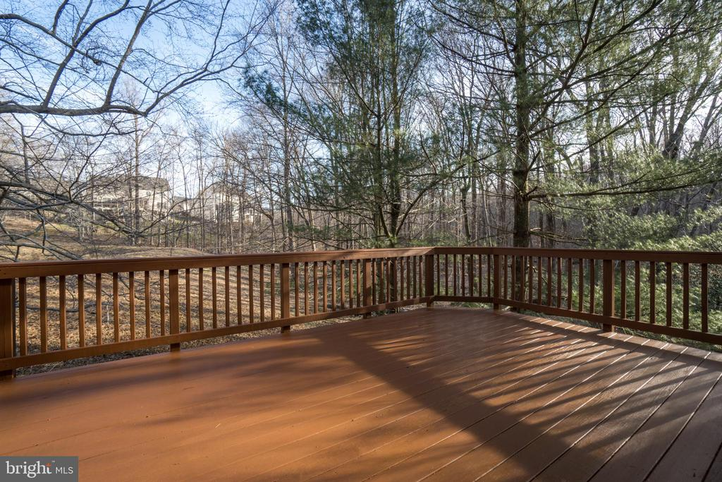 Deck overlooking private wooded backyard - 8189 SHIPS CURVE LN, SPRINGFIELD