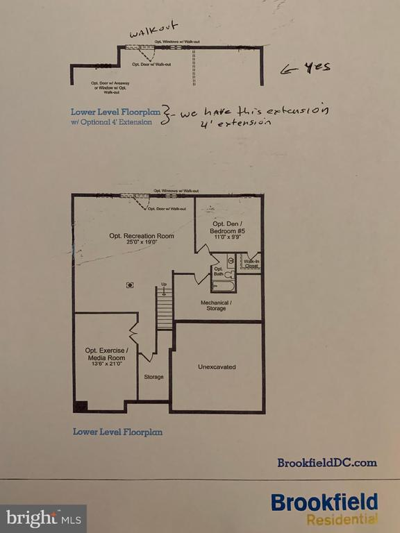 Lower Level Floorplan - 21203 NED DR, ASHBURN