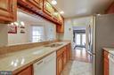 Stainless steel refrigerator/granite counter tops - 2907 S WOODSTOCK ST #E, ARLINGTON