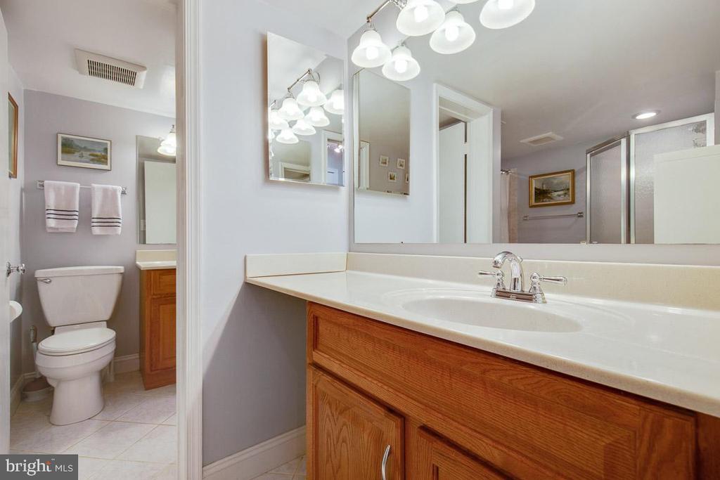 Two sinks in bathroom - 2907 S WOODSTOCK ST #E, ARLINGTON