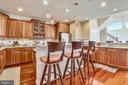Kitchen-Island Plus Breakfast Bar - 2052 BEACON HEIGHTS DR, RESTON