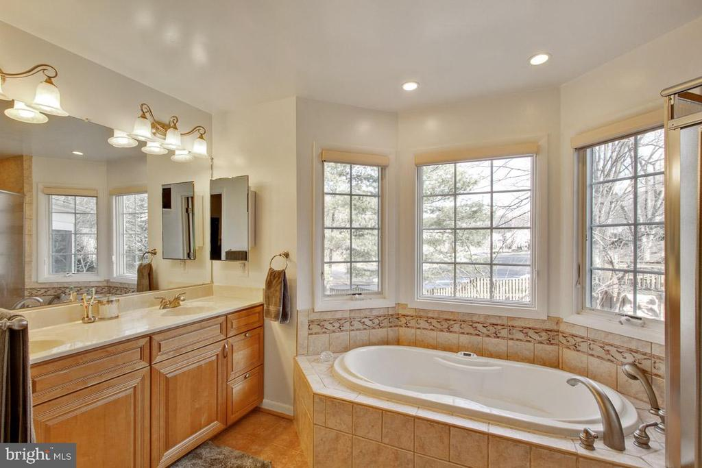 Dual vanities, spa tub, separate shower - 7506 BOX ELDER CT, MCLEAN
