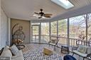Screened porch is favorite spot for relaxing - 7506 BOX ELDER CT, MCLEAN