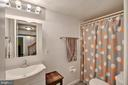 Lower level full bathroom - 7506 BOX ELDER CT, MCLEAN