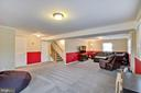 Open lower level with newer plush carpet - 7506 BOX ELDER CT, MCLEAN