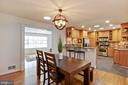 Large eat-in space off kitchen - 7506 BOX ELDER CT, MCLEAN