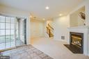 Basement with gas fireplace - 9603 MASEY MCQUIRE CT, LORTON