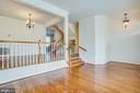 Steps lead up to dining room - 9603 MASEY MCQUIRE CT, LORTON