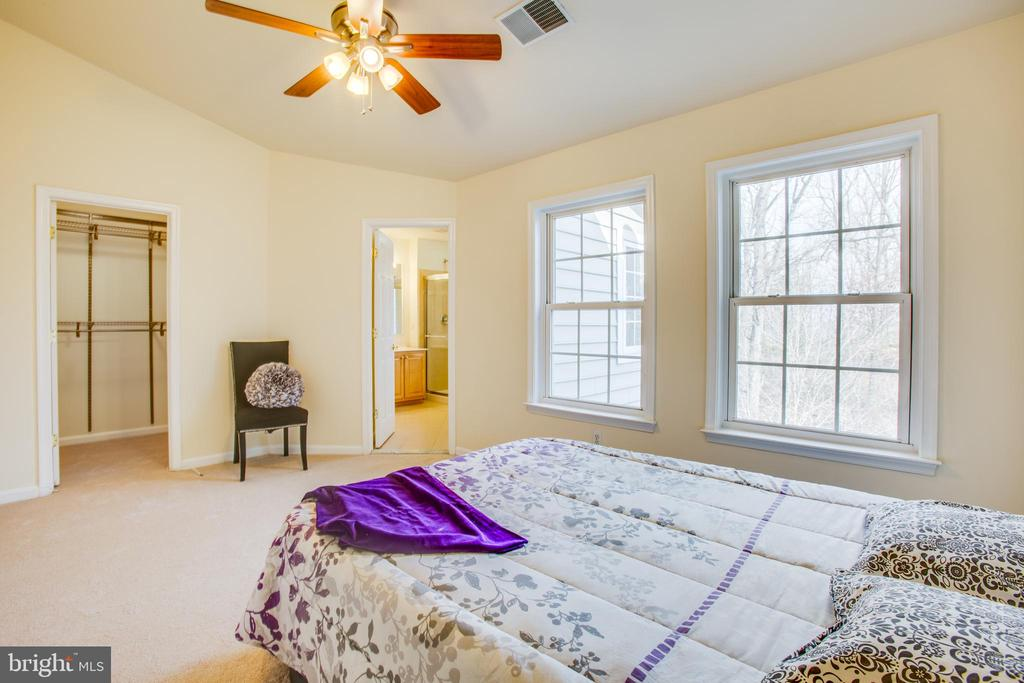 Light and bright master bedroom with ensuite bath - 9603 MASEY MCQUIRE CT, LORTON