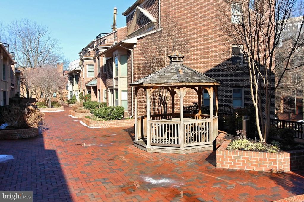 Lovely Courtyard and Gazebo - 608A N TAZEWELL ST, ARLINGTON