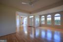 Gleaming hardwood floors in living room - 20974 ALBION LN, ASHBURN
