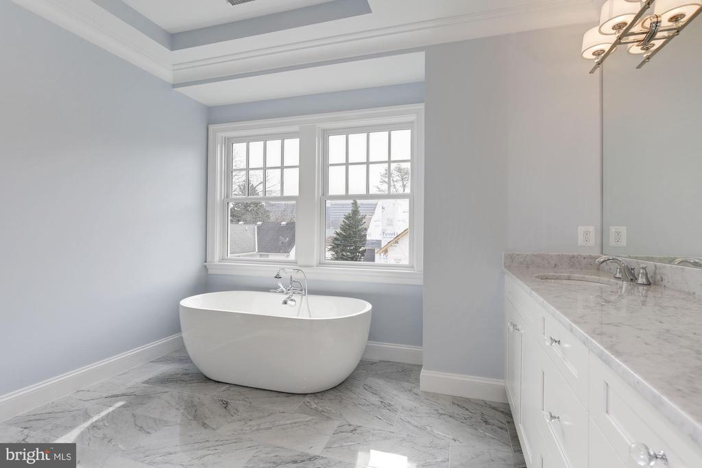 Luxury master bathroom - 4522 CHELTENHAM DR, BETHESDA