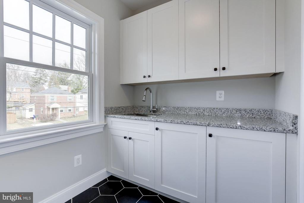 Second floor laundry room - 4522 CHELTENHAM DR, BETHESDA