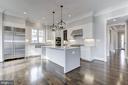 Open floor plan kitchen - 4522 CHELTENHAM DR, BETHESDA