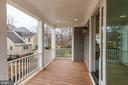 Back porch - 4522 CHELTENHAM DR, BETHESDA