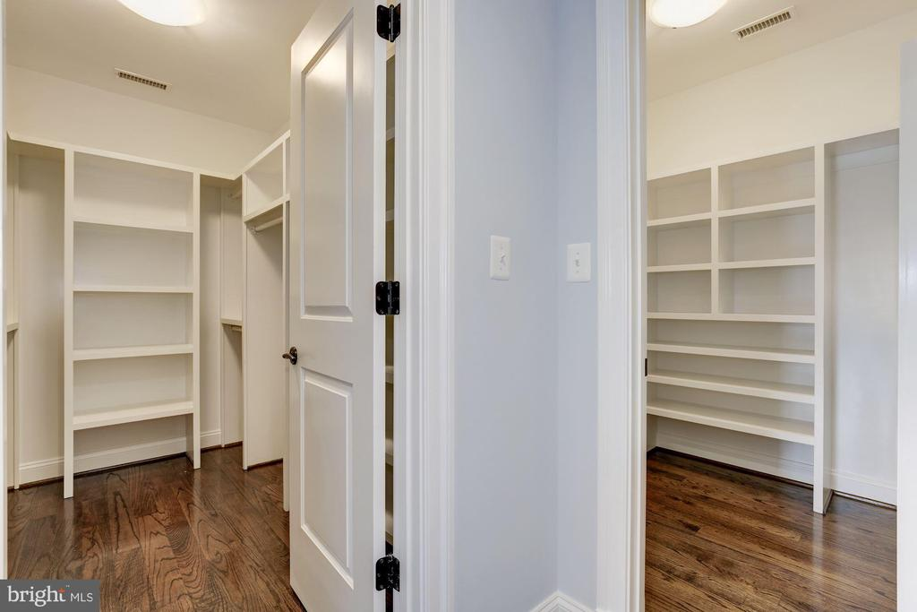 Two walking in closet in the master bedroom - 4522 CHELTENHAM DR, BETHESDA