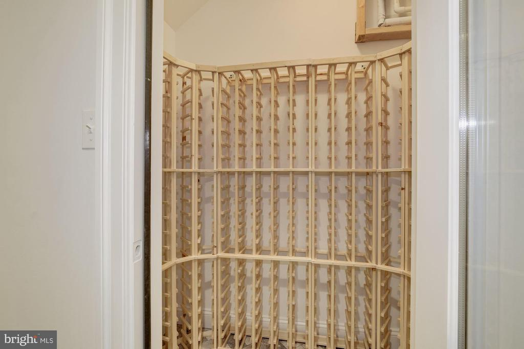 Wine Cellar located in the basement - 4522 CHELTENHAM DR, BETHESDA