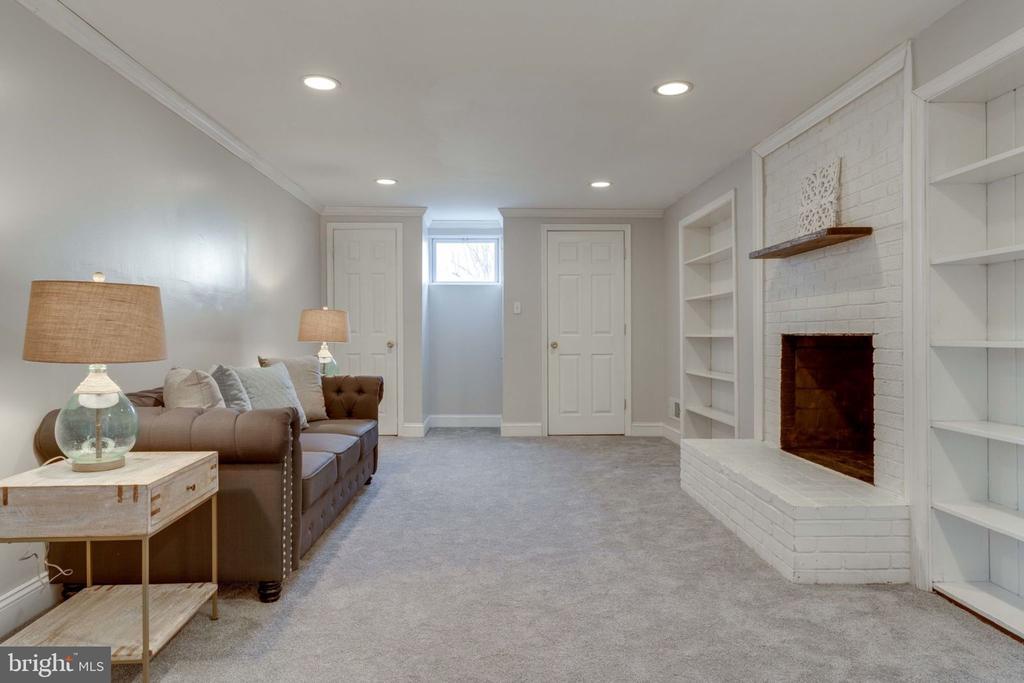 Basement Family Room - 5209 CEDAR RD, ALEXANDRIA