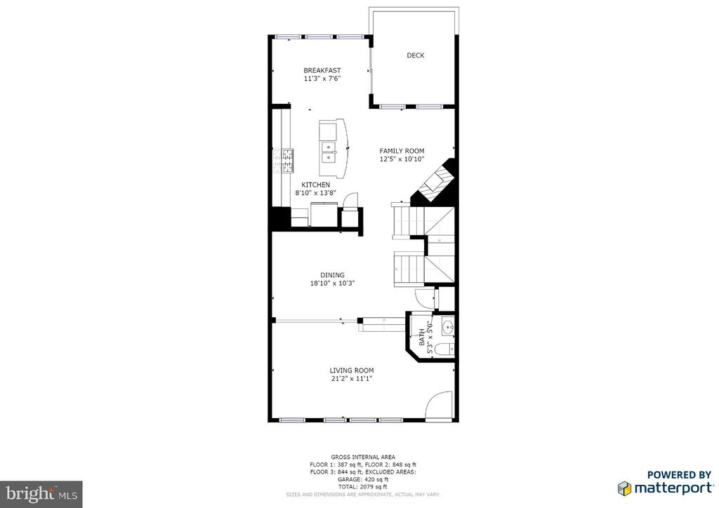 Main Level Floor Plan - 9603 MASEY MCQUIRE CT, LORTON