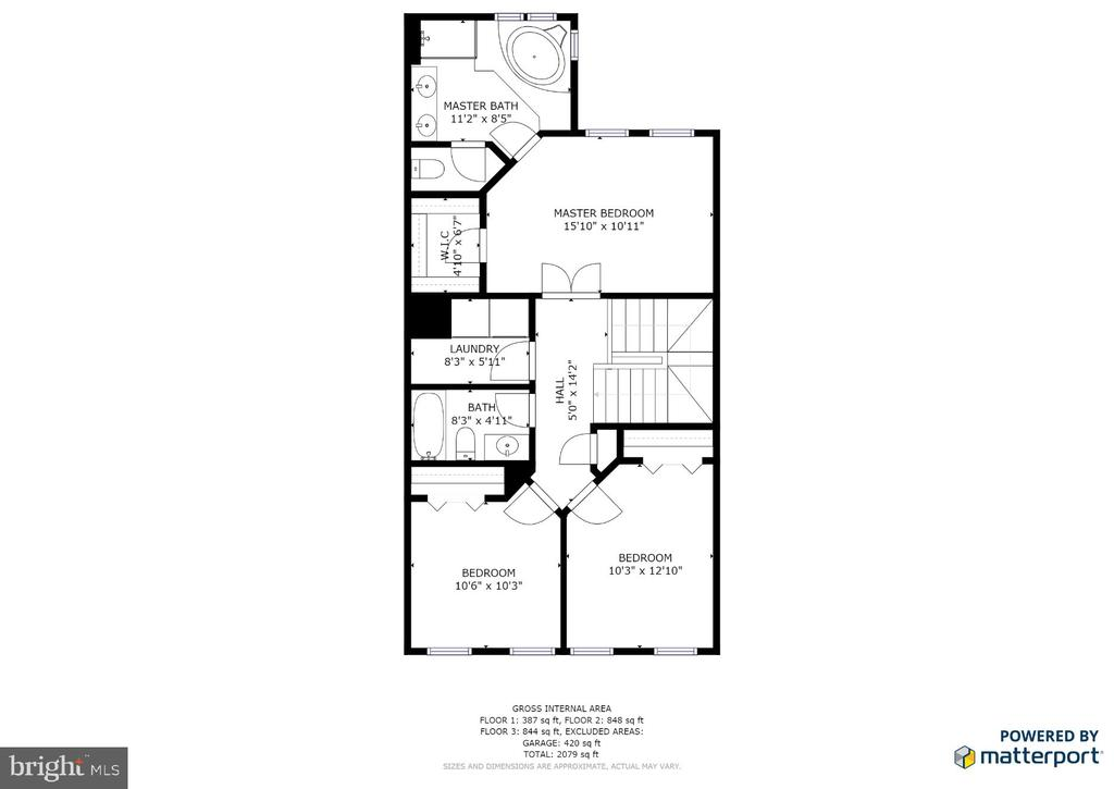 Upper Level Floor Plan - 9603 MASEY MCQUIRE CT, LORTON