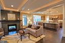 Family room with gas fireplace, of similar model - 222 LOVERS LN NW, VIENNA