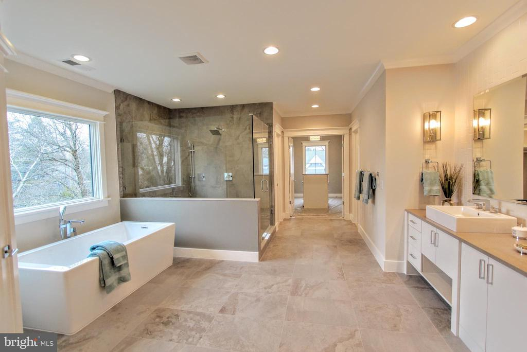 Owner's bath, of similar model - 222 LOVERS LN NW, VIENNA