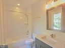 Secondary en suite bath, of similar model - 222 LOVERS LN NW, VIENNA