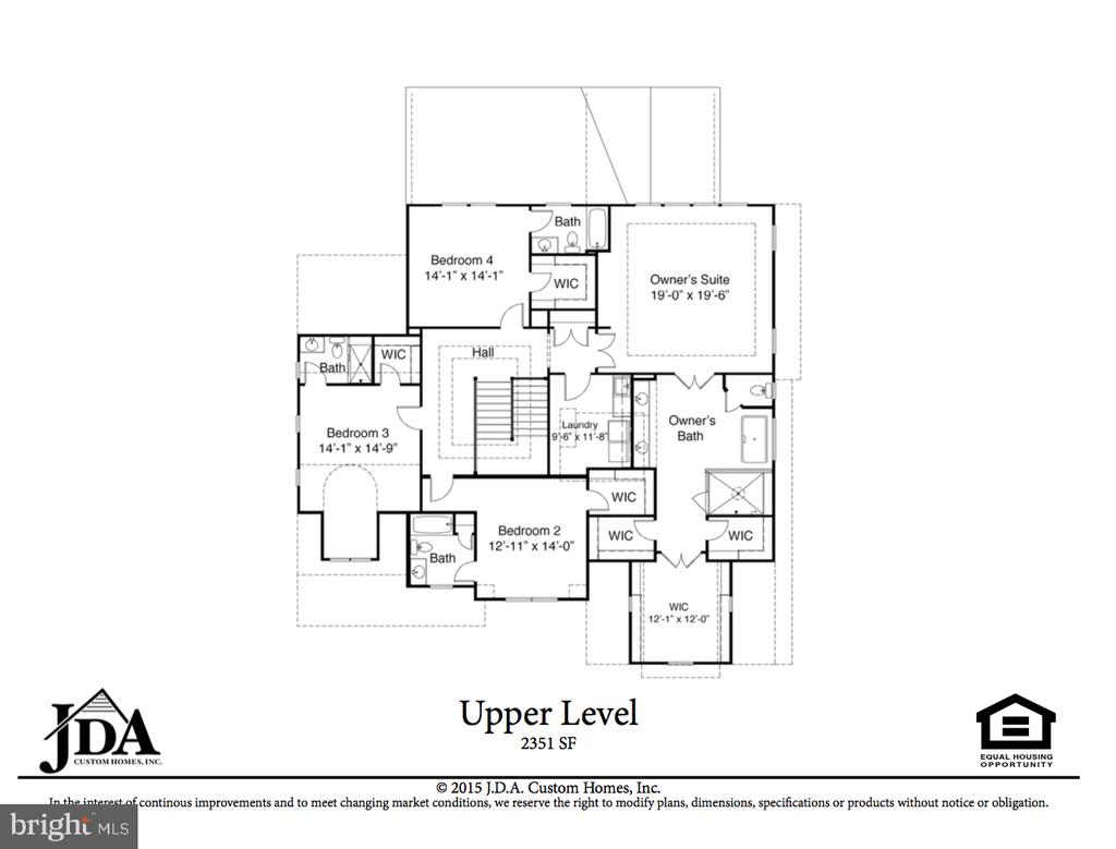 Upper Level Floor Plan - 222 LOVERS LN NW, VIENNA
