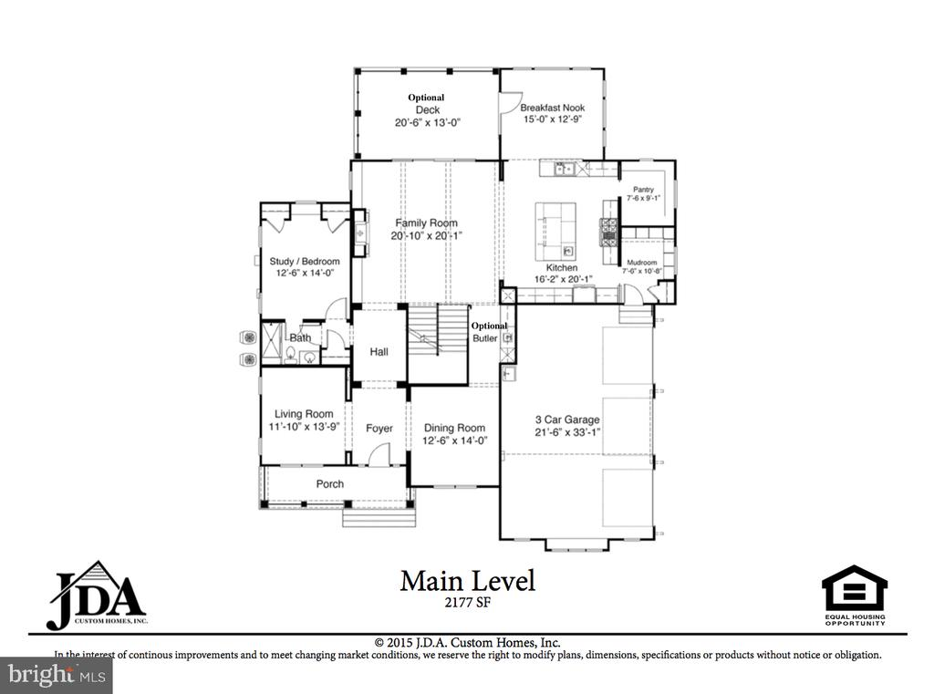 Main Level Floor Plan - 222 LOVERS LN NW, VIENNA