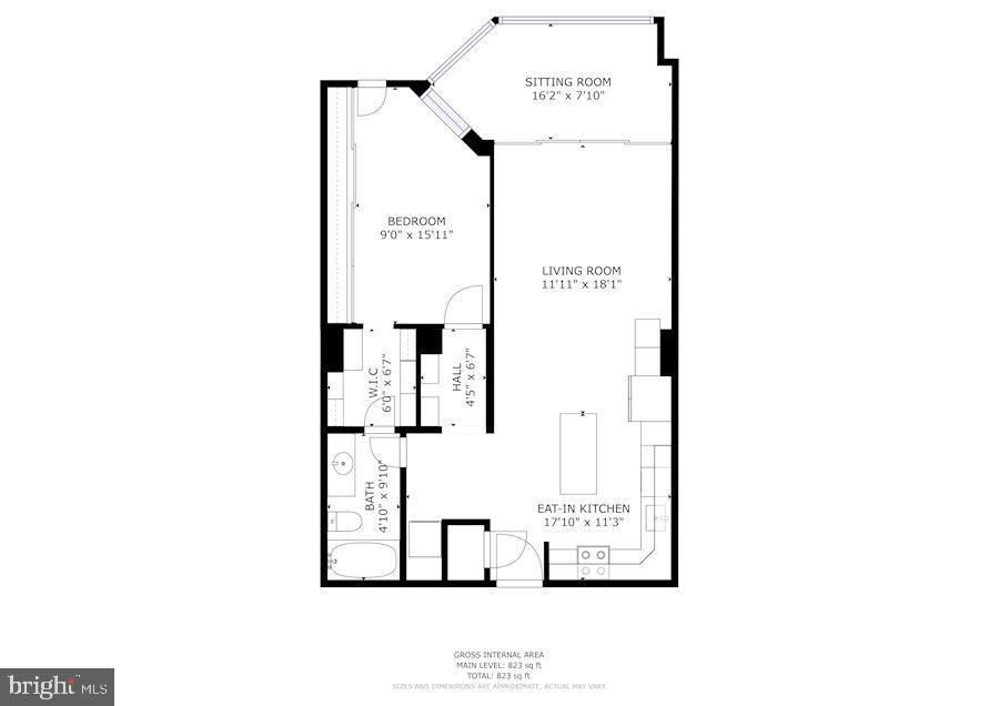 Floor Plan - 1001 N RANDOLPH ST #205, ARLINGTON
