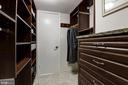 Master Bedroom Closet With Built-Ins - 1001 N RANDOLPH ST #205, ARLINGTON