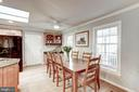 Dining area with room for a large table - 1406 EARNSHAW CT, RESTON