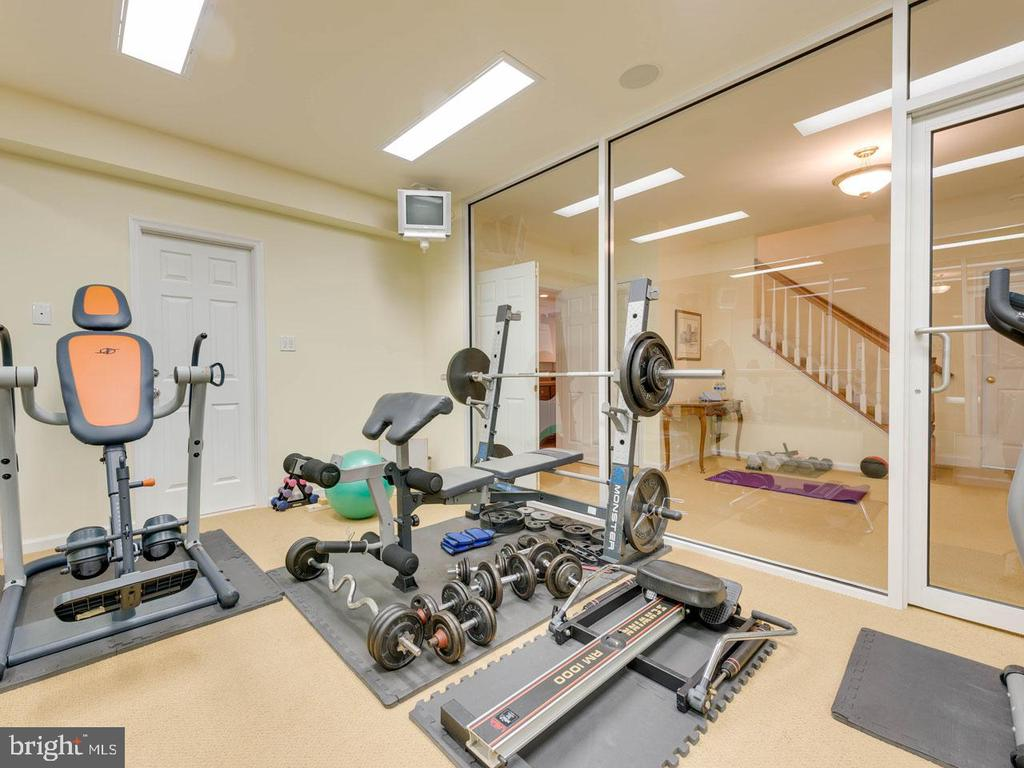Workout room (lower level) - 7304 AUBURN ST, ANNANDALE