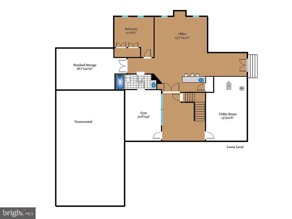 Lower level floor plan - 7304 AUBURN ST, ANNANDALE