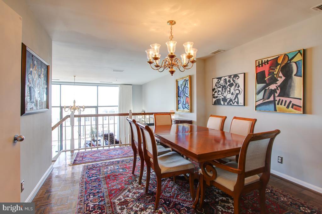 Formal Dining Room Overlooks Great Room and Beyond - 1401 N OAK ST N #305, ARLINGTON