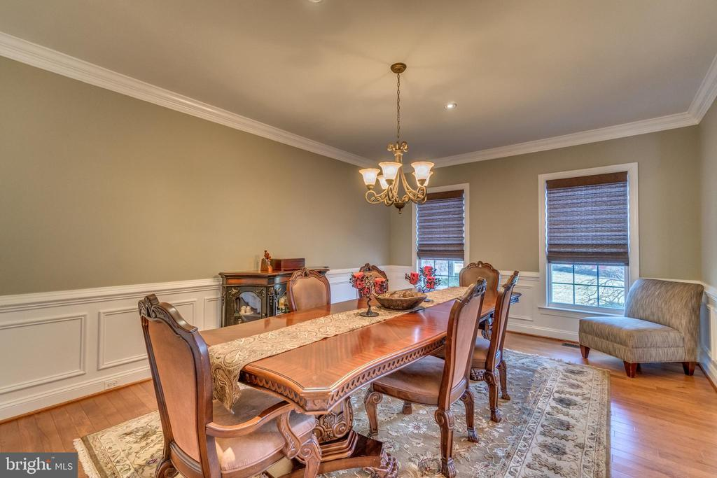 Formal Dining Room with Wainscoting, Crown Molding - 70 ALDERWOOD DR, STAFFORD