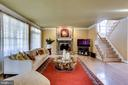 Main level Family Room withgas fireplace - 10522 DUNN MEADOW RD, VIENNA