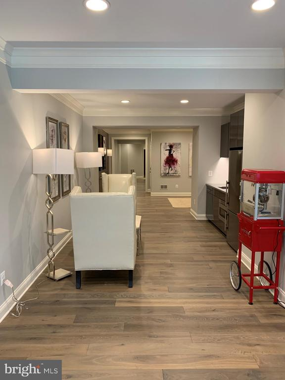 Lower level hallway w/hardwood floors - 7301 DULANY DR, MCLEAN